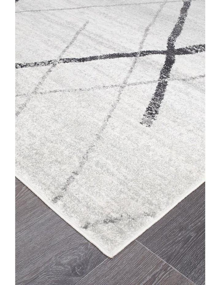 Oasis Noah White Grey Contemporary Rug image 3