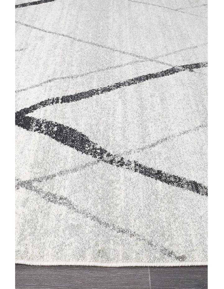 Oasis Noah White Grey Contemporary Rug image 4