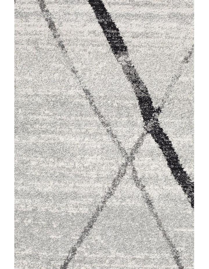 Oasis Noah White Grey Contemporary Rug image 5