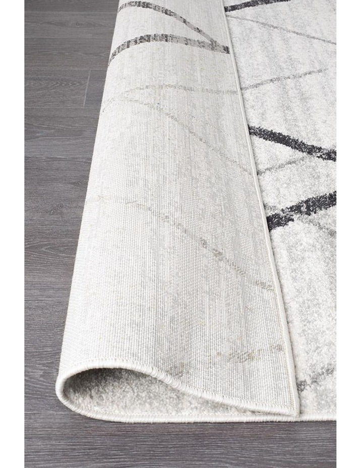 Oasis Noah White Grey Contemporary Rug image 6