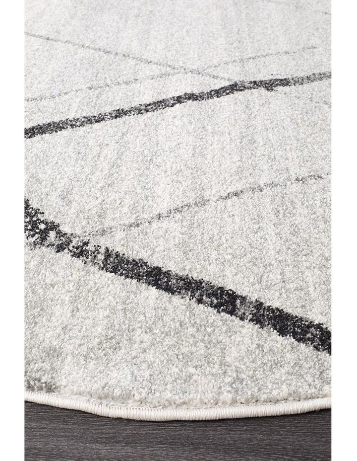 Oasis Noah White Grey Contemporary Round Rug image 2