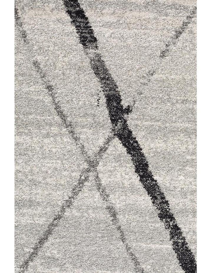 Oasis Noah White Grey Contemporary Round Rug image 3