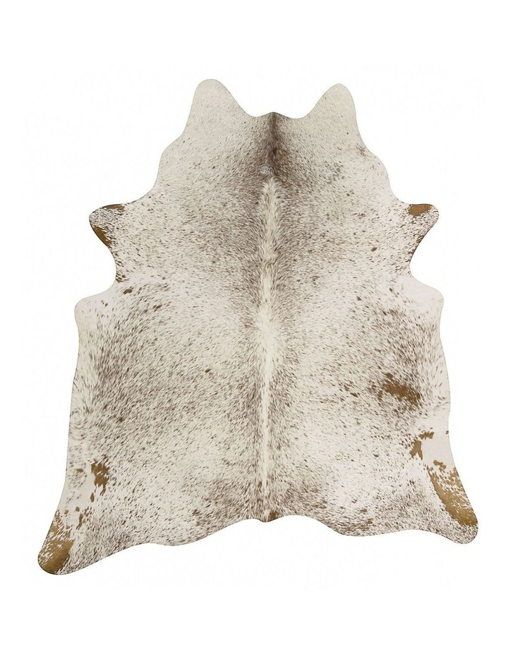 Exquisite Natural Cow Hide Salt & Pepper Brown image 3