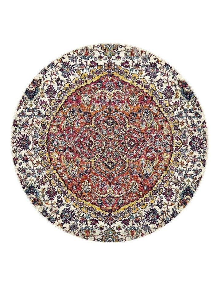 Museum Shelly Rust Round Rug image 1