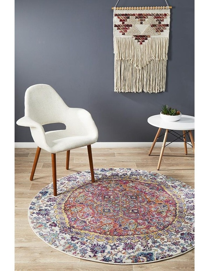 Museum Shelly Rust Round Rug image 3