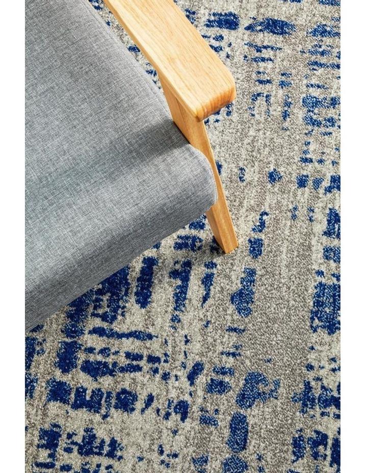 Mirage Ashley Abstract Modern Blue Grey Rug image 2