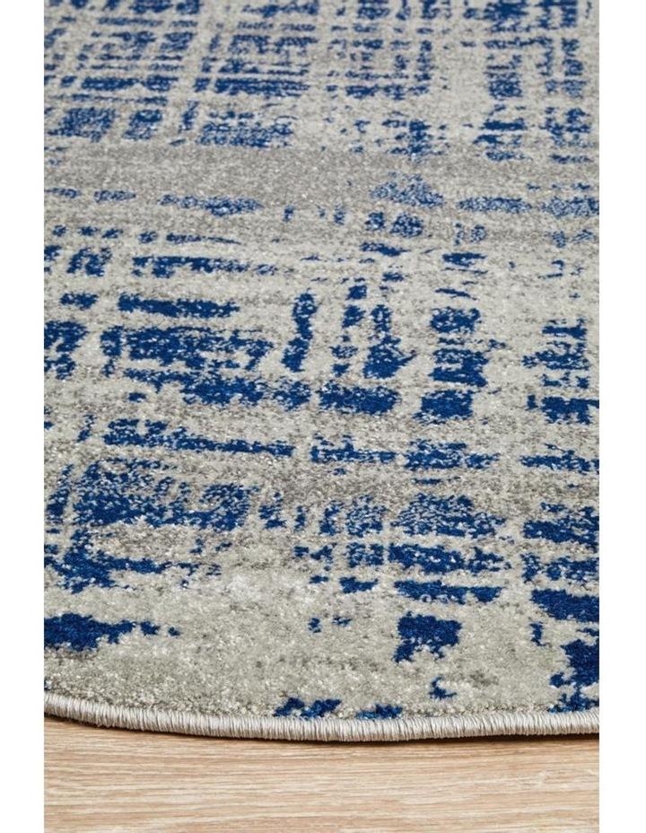 Mirage Ashley Abstract Modern Blue Grey Round Rug image 2