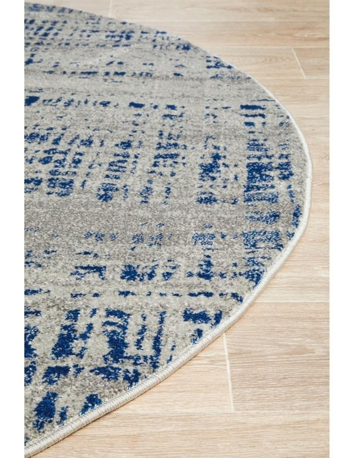 Mirage Ashley Abstract Modern Blue Grey Round Rug image 3