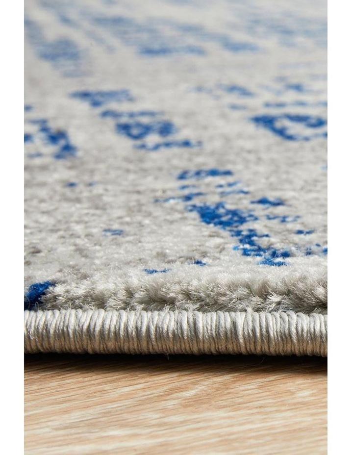 Mirage Ashley Abstract Modern Blue Grey Round Rug image 4