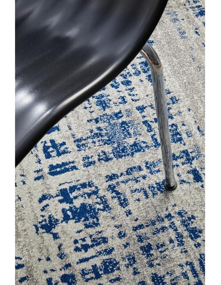Mirage Ashley Abstract Modern Blue Grey Round Rug image 5