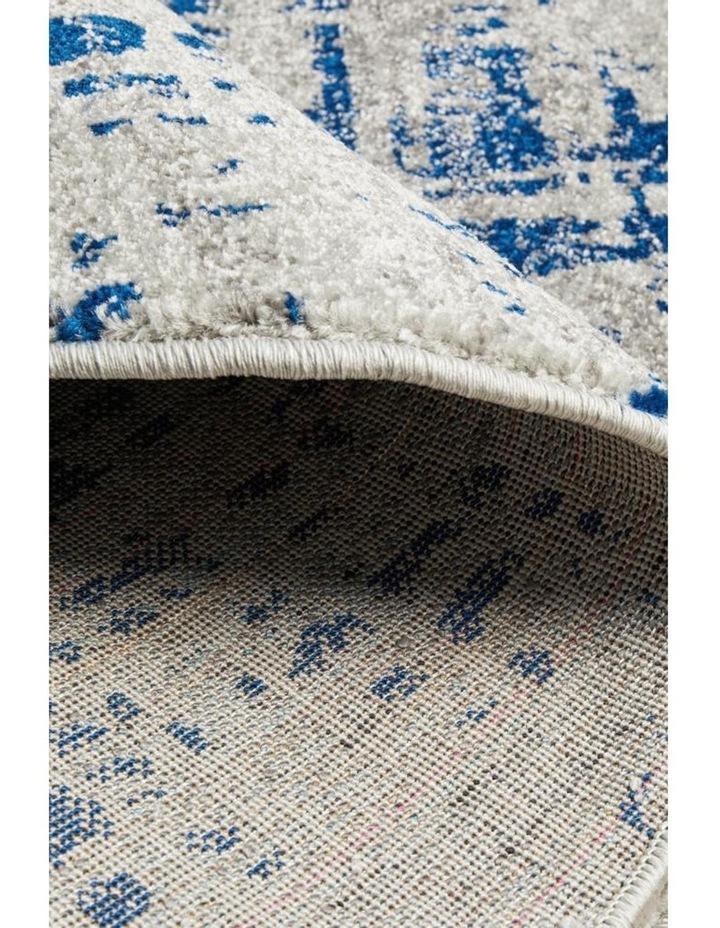 Mirage Ashley Abstract Modern Blue Grey Round Rug image 6