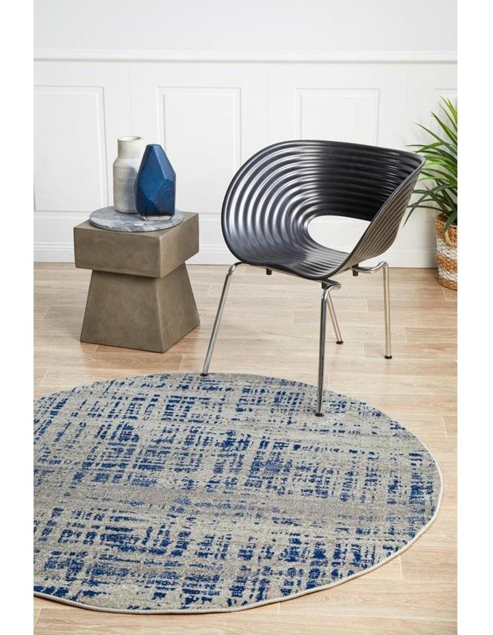 Mirage Ashley Abstract Modern Blue Grey Round Rug image 7