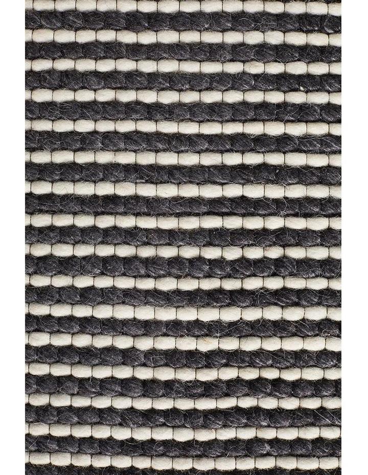 Studio Oskar Felted Wool Striped Rug Black White image 4