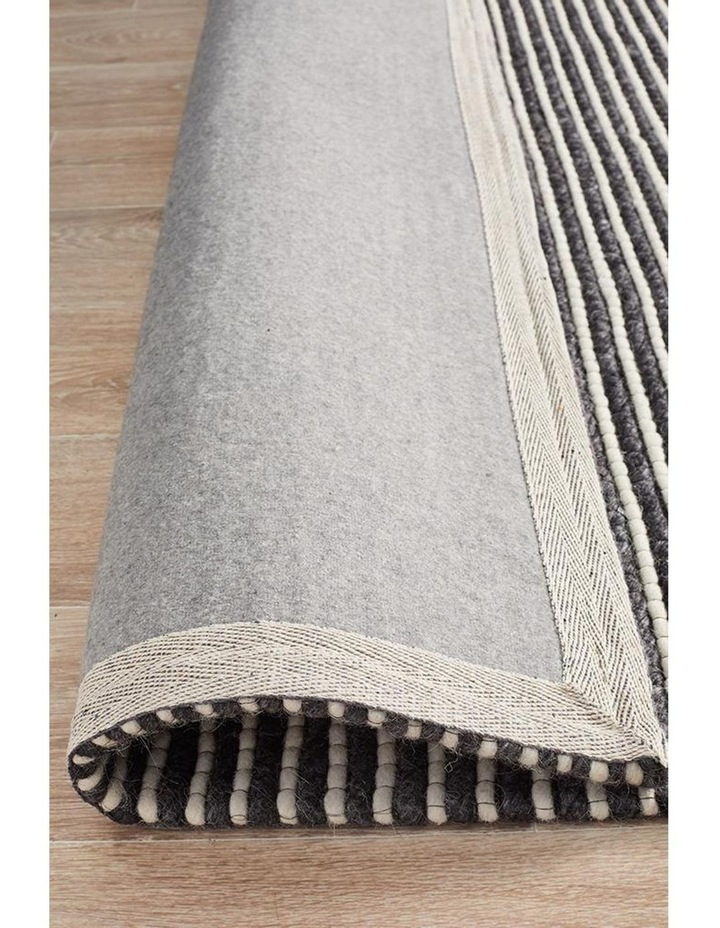 Studio Oskar Felted Wool Striped Rug Black White image 5