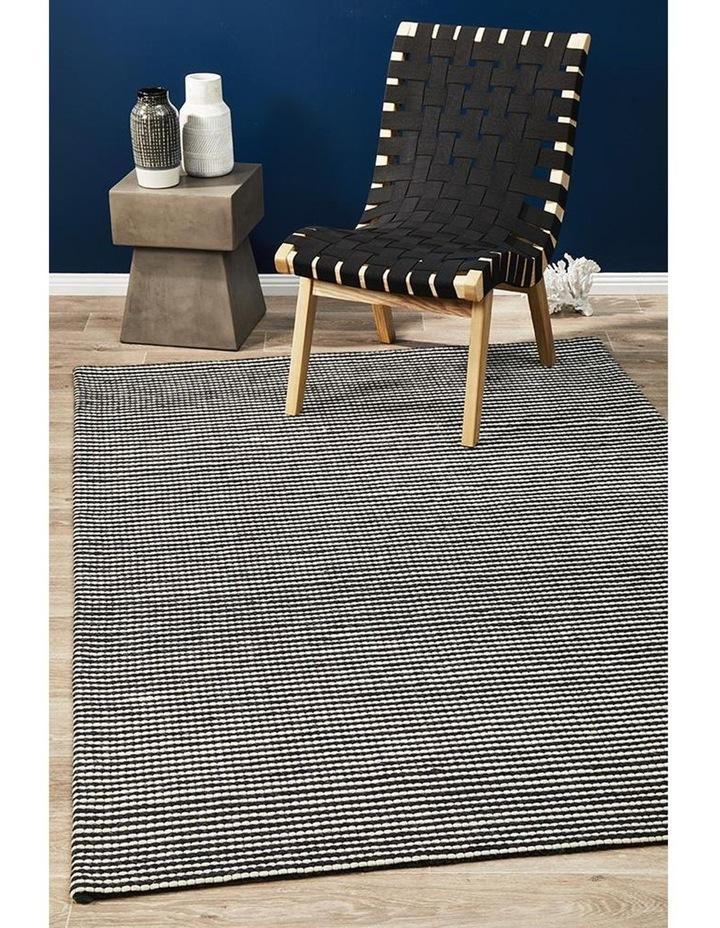 Studio Oskar Felted Wool Striped Rug Black White image 6