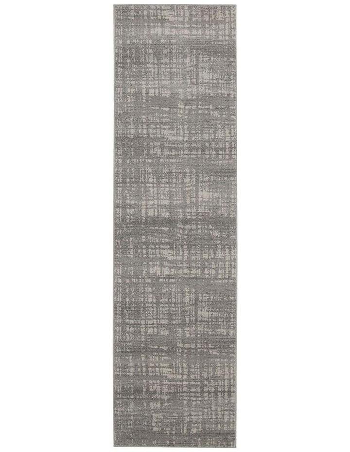 Mirage Ashley Abstract Modern Silver Grey Rug image 1
