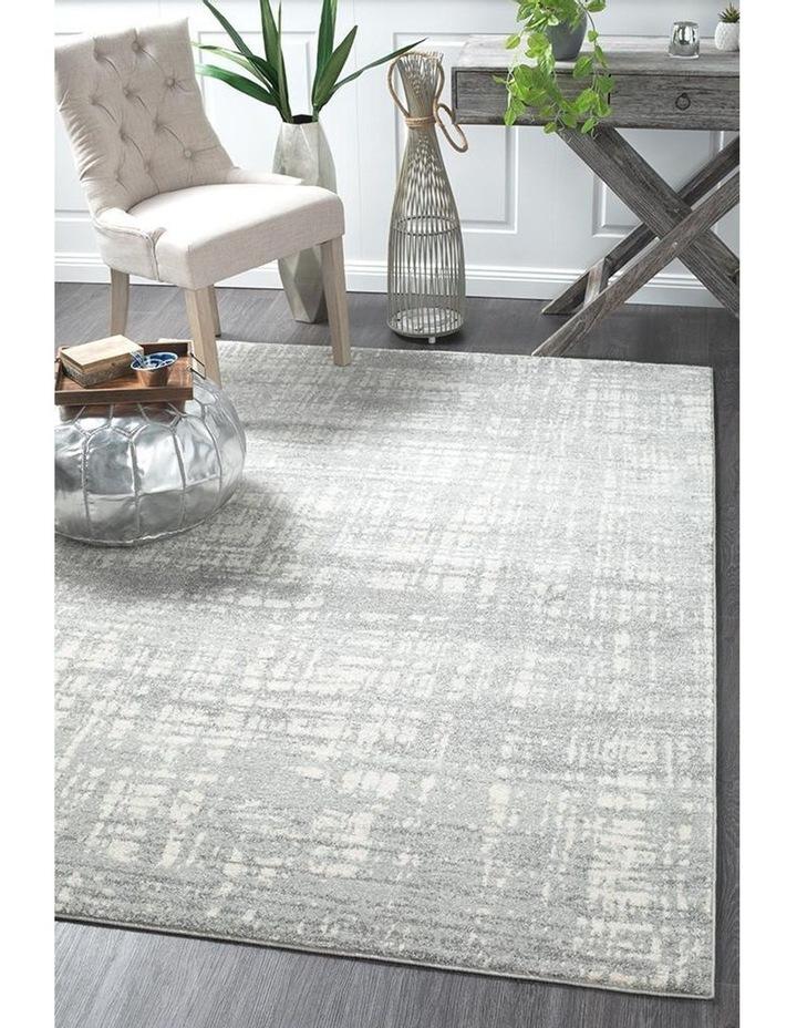 Mirage Ashley Abstract Modern Silver Grey Rug image 2