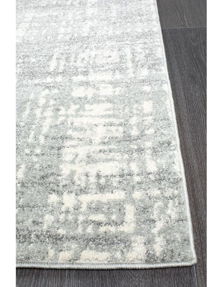 Mirage Ashley Abstract Modern Silver Grey Rug image 4