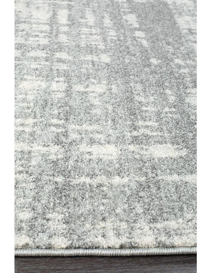 Mirage Ashley Abstract Modern Silver Grey Rug image 5