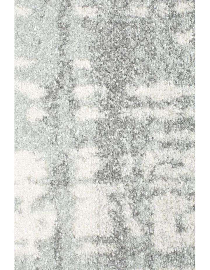 Mirage Ashley Abstract Modern Silver Grey Rug image 6