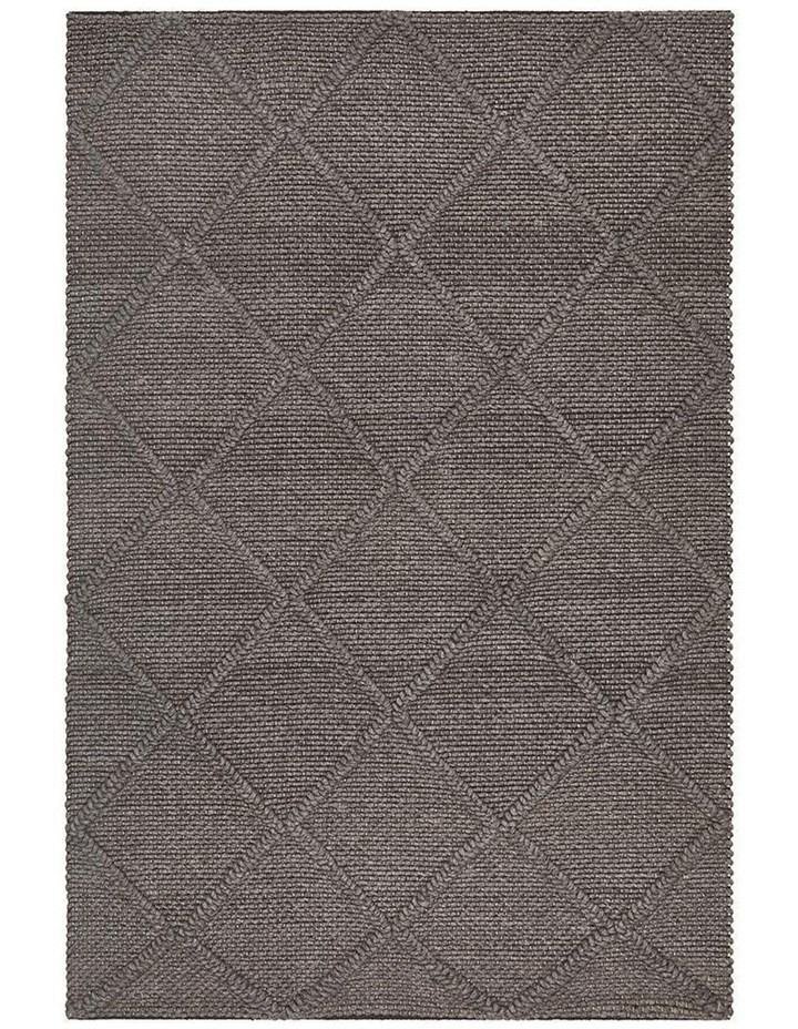 Studio Oberg Wool Diamond Rug Grey Brown image 1