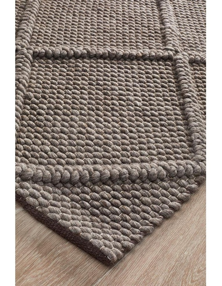 Studio Oberg Wool Diamond Rug Grey Brown image 2