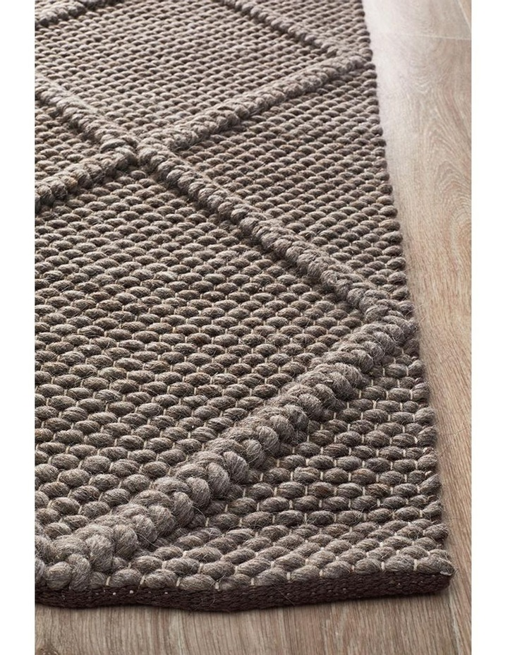 Studio Oberg Wool Diamond Rug Grey Brown image 3