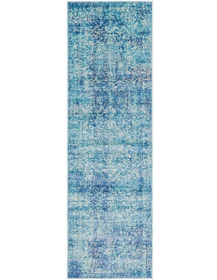 Evoke Muse Blue Transitional Runner Rug image 1