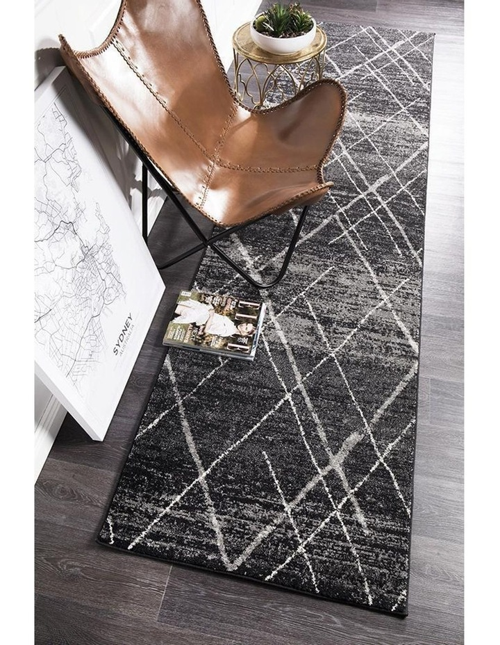 Oasis Noah Charcoal Contemporary Rug image 5