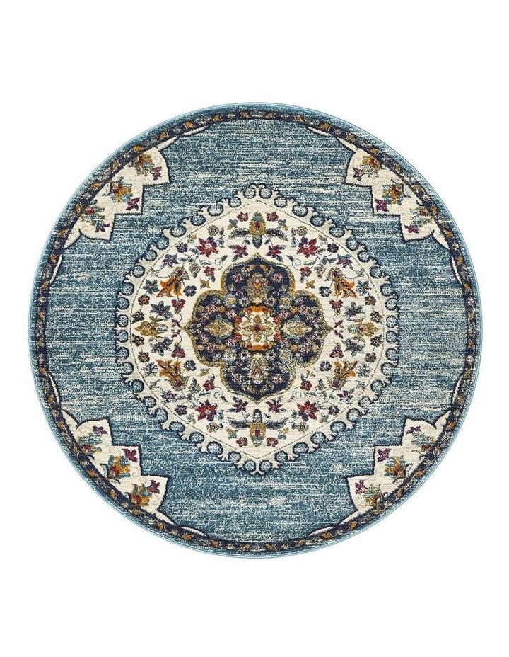 Babylon 202 Blue Round Rug image 1
