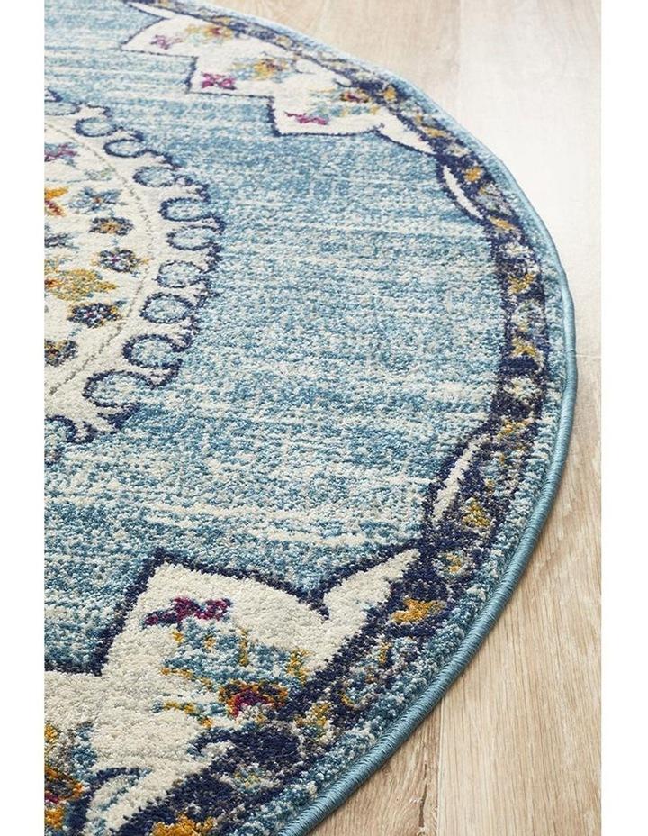 Babylon 202 Blue Round Rug image 3