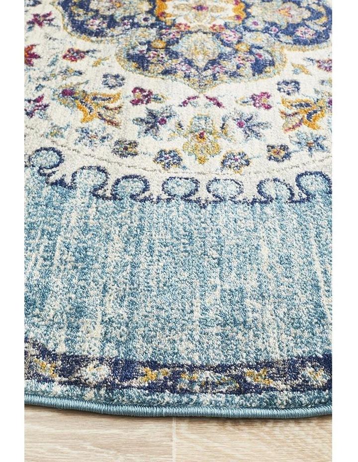 Babylon 202 Blue Round Rug image 4