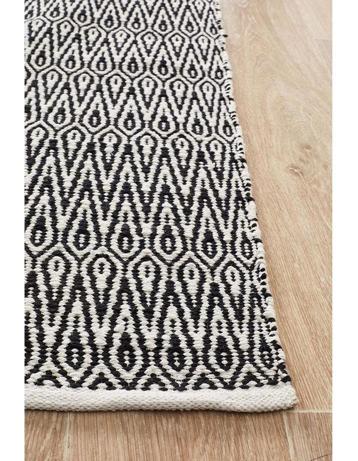 Spirit Austin Textured Modern Rug Black White image 3