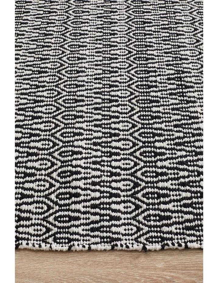 Spirit Austin Textured Modern Rug Black White image 4