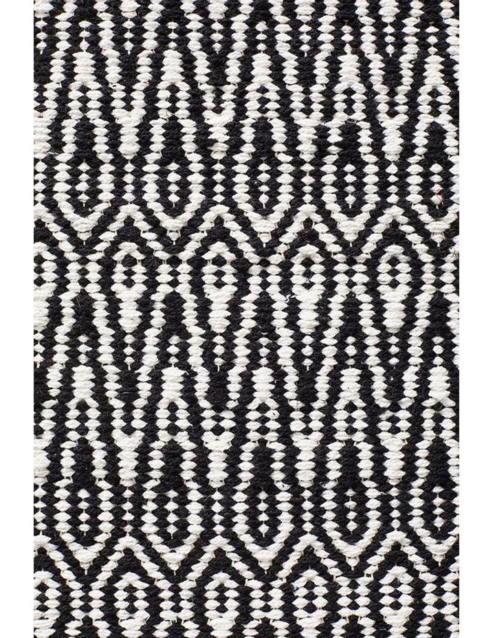 Spirit Austin Textured Modern Rug Black White image 5