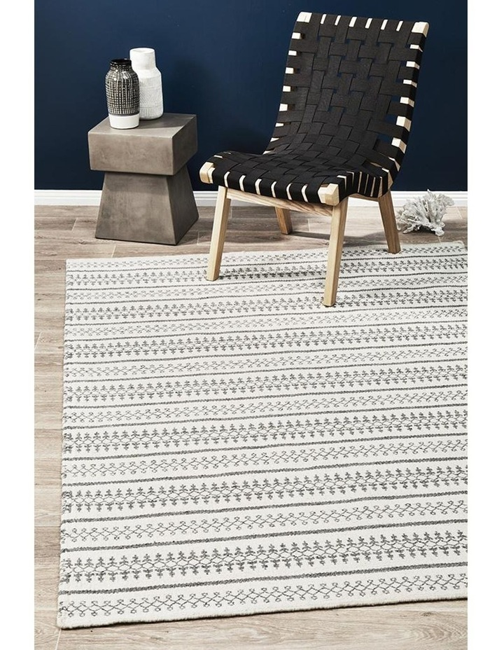 Studio Ester Delicate Lace Woollen Rug Ivory Grey image 3