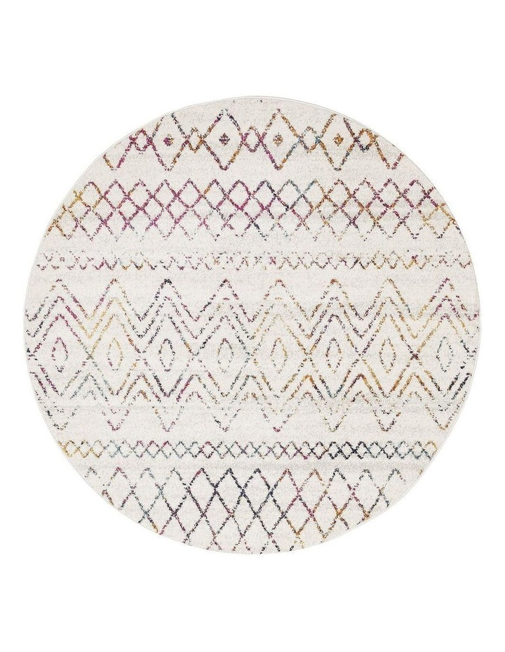 Oasis Nadia Multi Rustic Tribal Round Rug image 1