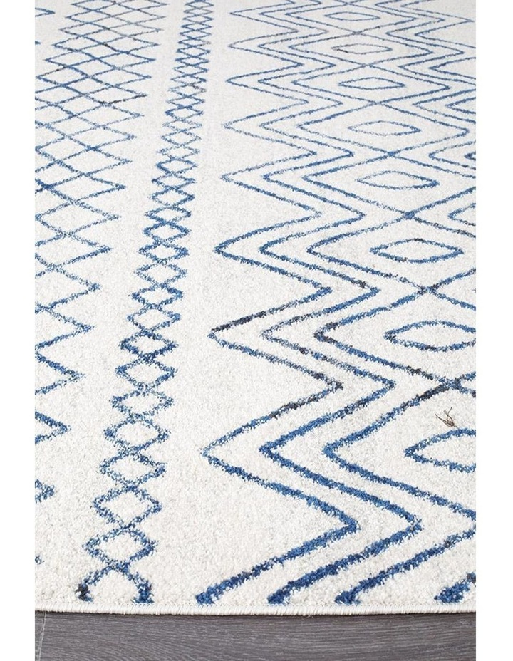 Oasis Nadia White Blue Rustic Tribal Rug image 2