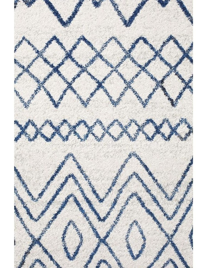 Oasis Nadia White Blue Rustic Tribal Rug image 3