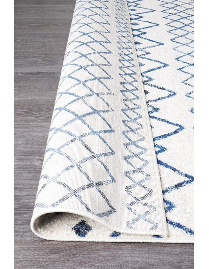 Oasis Nadia White Blue Rustic Tribal Rug image 4