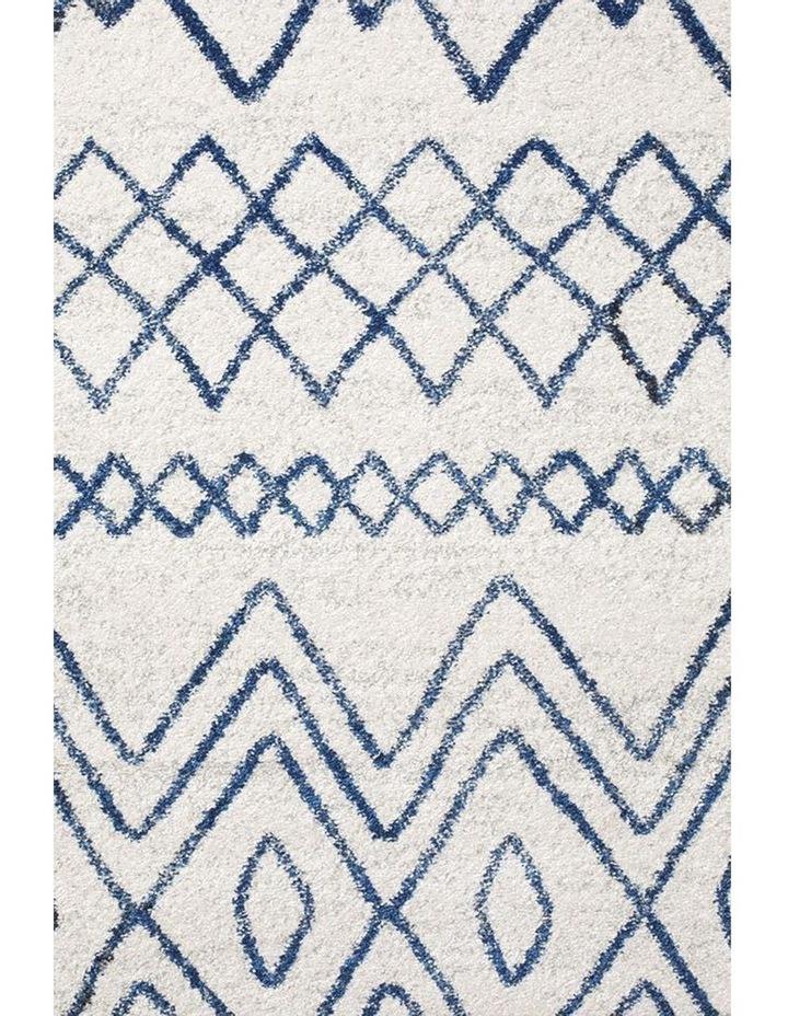 Oasis Nadia White Blue Rustic Tribal Round Rug image 3