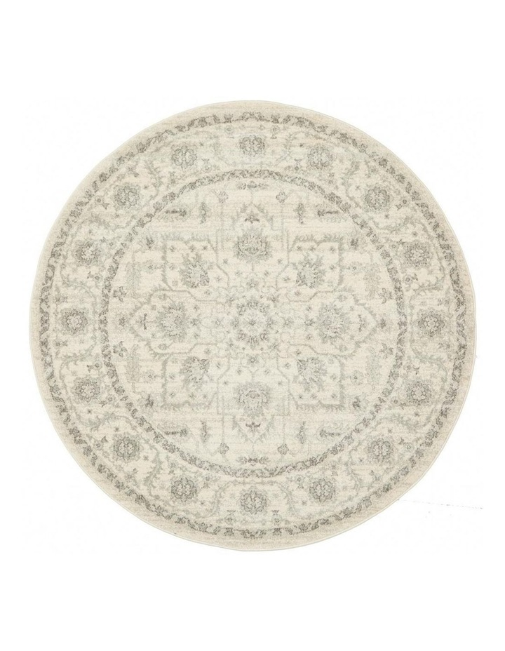Evoke Winter White Transitional Round Rug image 1