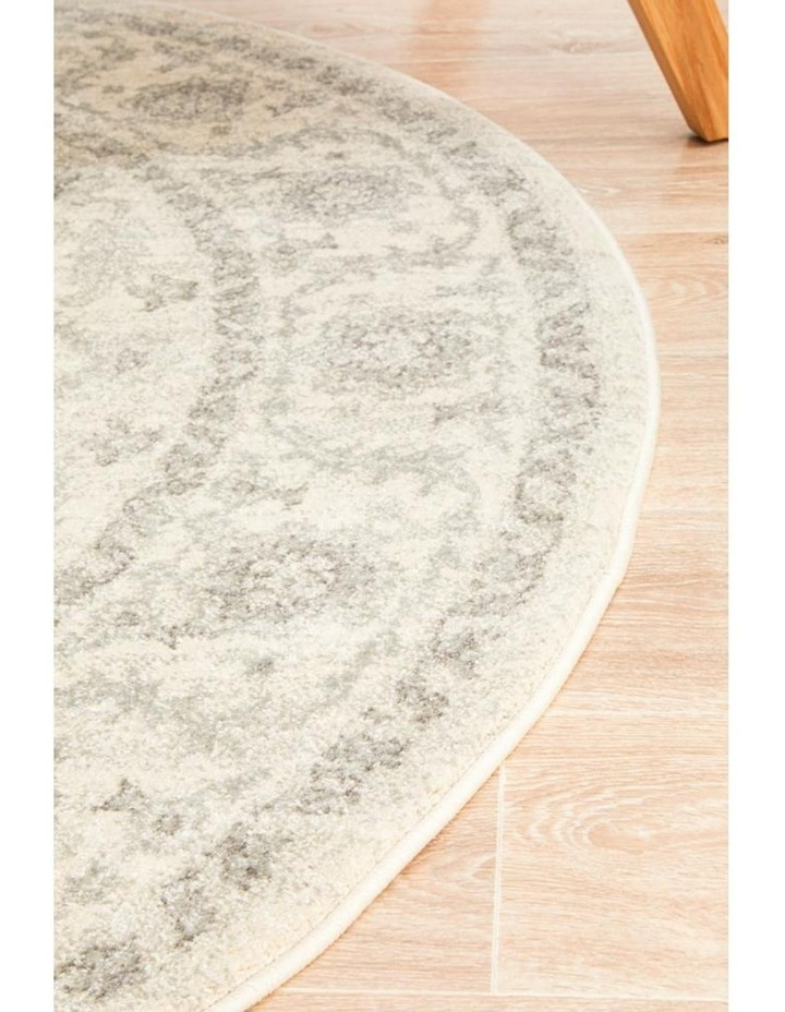 Evoke Winter White Transitional Round Rug image 3