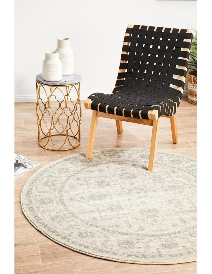 Evoke Winter White Transitional Round Rug image 6