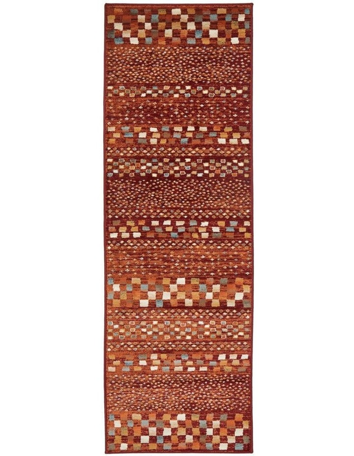 Oxford Mayfair Squares Rust Rug image 1