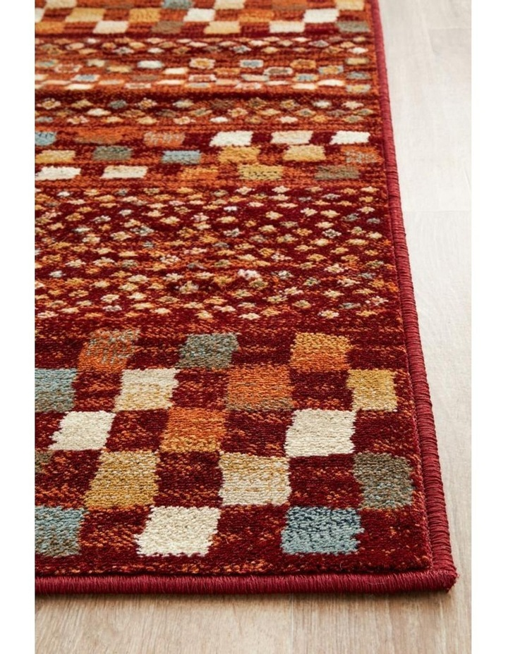 Oxford Mayfair Squares Rust Rug image 6
