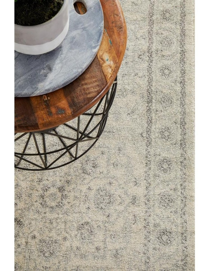 Evoke Winter White Transitional Runner Rug image 3