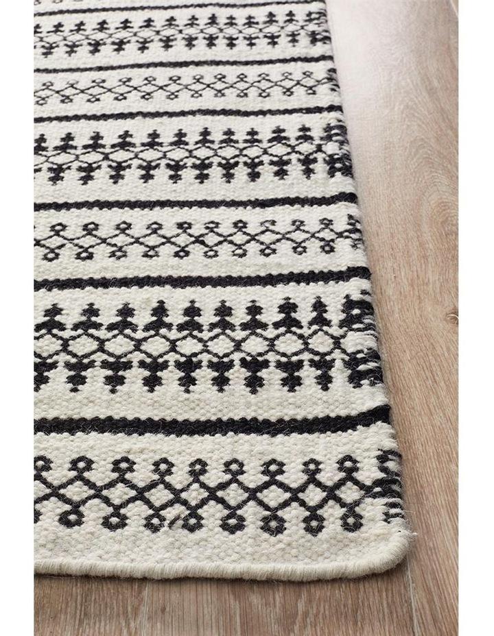 Studio Ester Delicate Lace Woollen Rug Ivory Black image 2