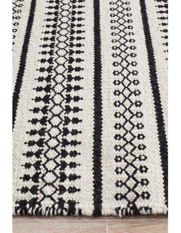 Studio Ester Delicate Lace Woollen Rug Ivory Black image 3
