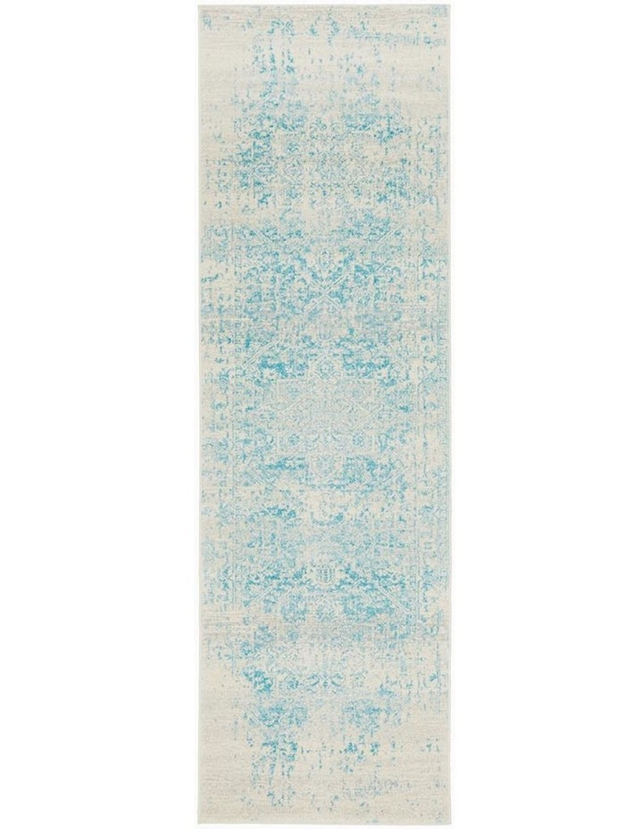 Evoke Glacier White Blue Transitional Rug image 1